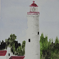 Watercolour - Cove Island Lighthouse - $60.00