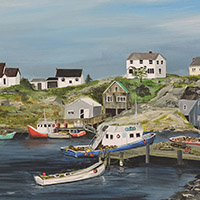 Acrylic - Peggy's Cove Harbour - $450.00